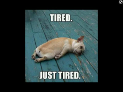 Tired.Just Tired